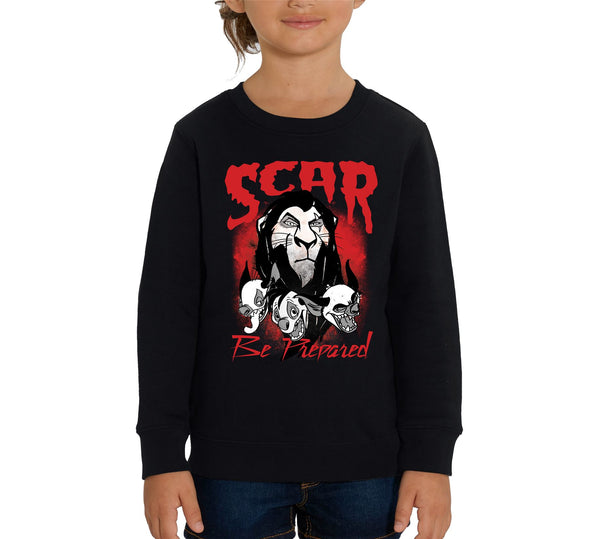 The Lion King Scar Be Prepared Children's Unisex Black Sweatshirt