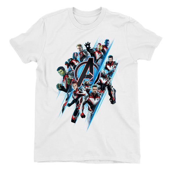 Avengers Endgame A Team Men's White T-Shirt