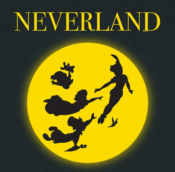 Disney Peter Pan Neverland Children's Unisex Black T-Shirt