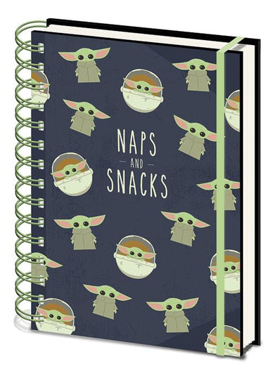 Star Wars: The Mandalorian Snack and Naps A5 Wiro Notebook