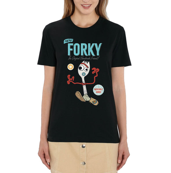 Disney Toy Story 4 Forky Ladies Black T-Shirt