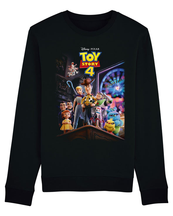 Disney Toy Story 4 Classic Movie Poster Adults Unisex Black Sweatshirt