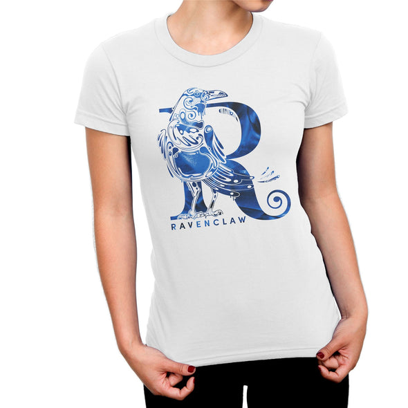 Harry Potter Ravenclaw Raven White Ladies T-Shirt