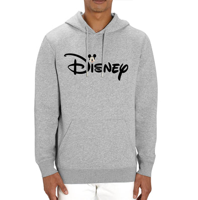 Disney's Mickey Mouse & Logo Adults Unisex Grey Hoodie