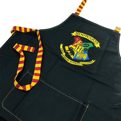 Harry Potter Hogwarts Crest Black Apron
