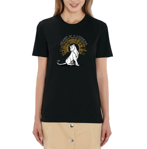 Heart of a Lioness Ladies Black Lion King T-Shirt