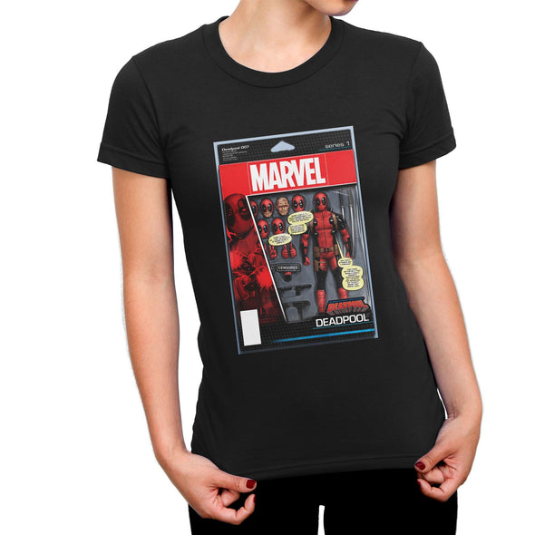 Deadpool Figure Ladies Black T-Shirt