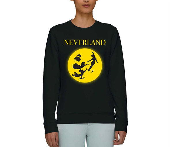 Disney Peter Pan Neverland Adults Unisex Black Sweatshirt
