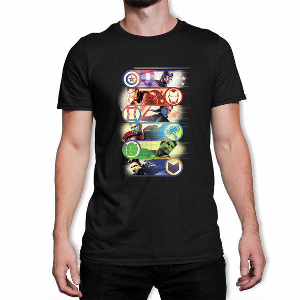 Avengers Endgame Original Heroes Men's Black T-Shirt