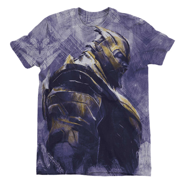 Avengers Endgame Thanos Ladies Purple Sublimation T-Shirt