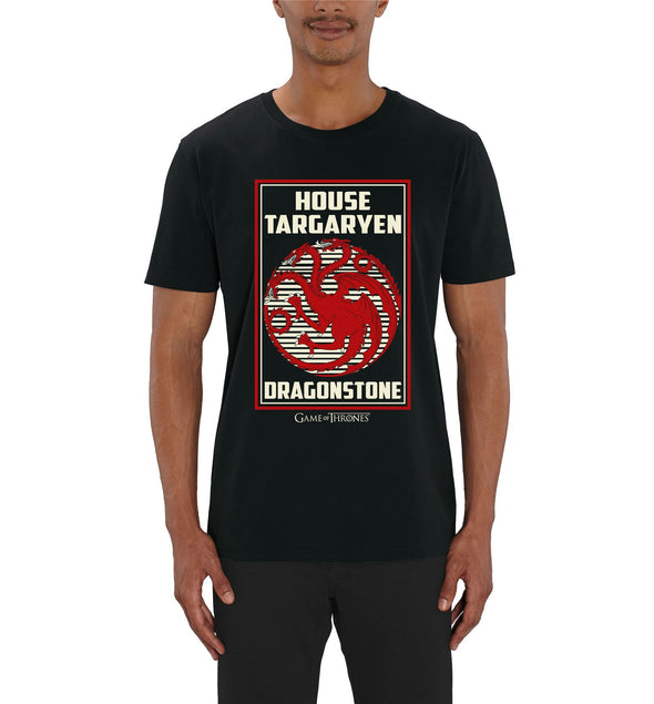 Game Of Thrones House Targaryen Men's Black T-Shirt