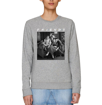 Friends Central Perk Sofa Group Picture Adults Unisex Grey Sweatshirt