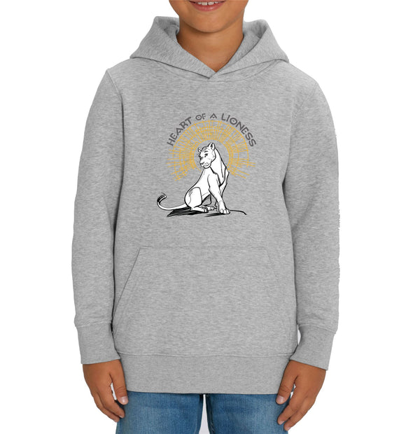 Heart of a Lioness Children's Unisex Grey Lion King Hoodie