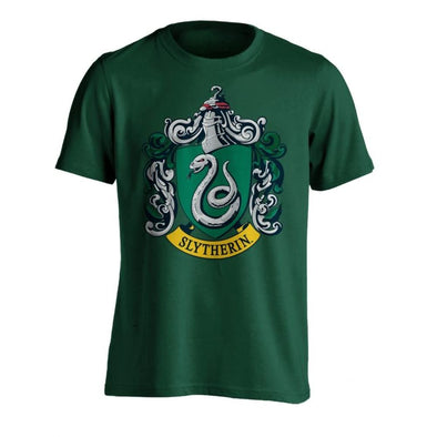 Harry Potter Slytherin Crest Green Men's Short Sleeved T-Shirt XXL