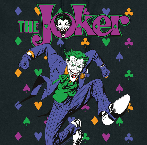 DC Comics The Joker Playing Cards Icons Ladies Black T-Shirt