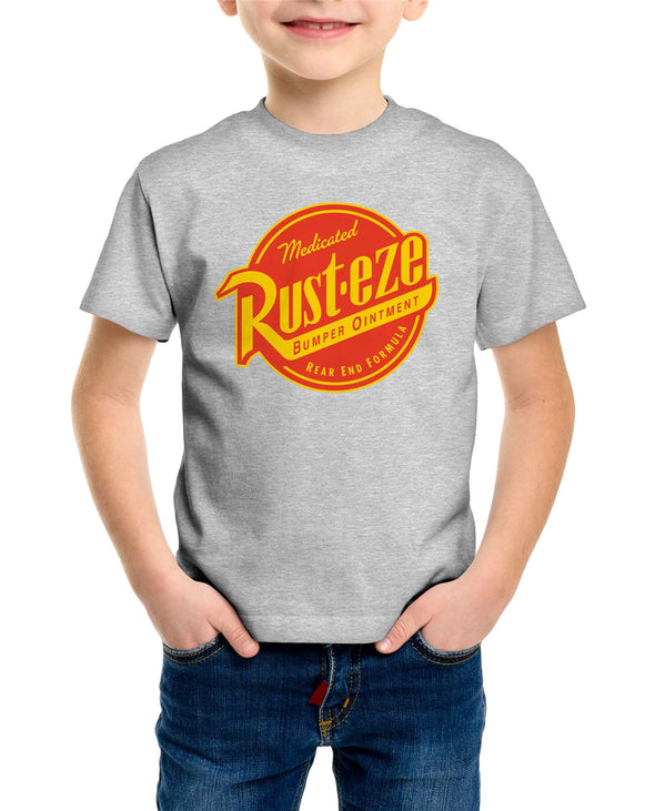 Disney Pixar Cars Rust-eze Logo Children's Unisex Grey T-Shirt