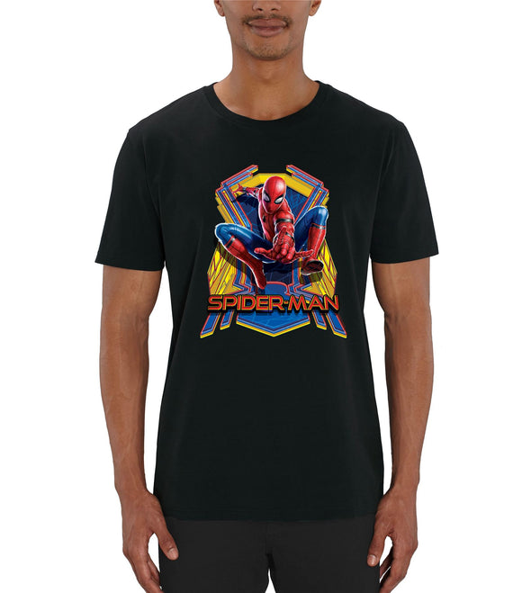 Marvel Spider-Man Far From Home Jump Men's Black T-Shirt