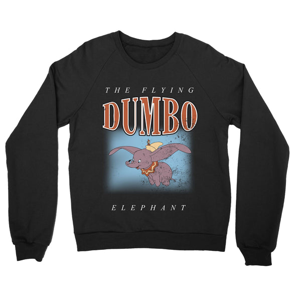 Dumbo The Flying Elephant Adults Unisex Black Sweatshirt