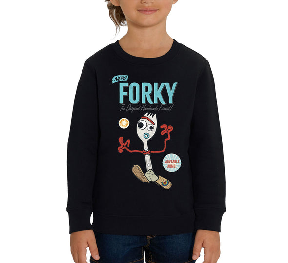Disney Toy Story 4 Forky Children's Unisex Black Sweatshirt