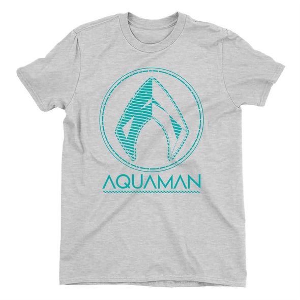Aquaman Classic Logo Men's Grey T-Shirt