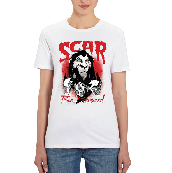 The Lion King Scar Be Prepared Ladies White T-Shirt