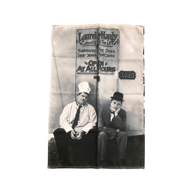 Laurel & Hardy Open At All Hours Tea Towel