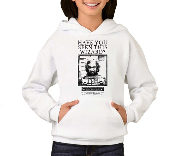 Harry Potter Sirius Black Wanted Poster Children's Unisex White Hoodie