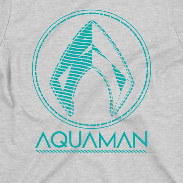 Aquaman Classic Logo Ladies Grey T-Shirt