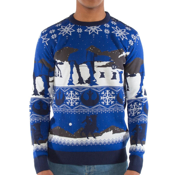 Star Wars Happy Hothi-days Blue Knitted Christmas Jumper