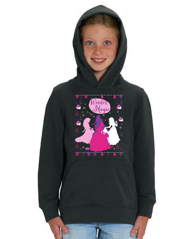 Disney Princess Winter Magic Children's Black Unisex Hoodie