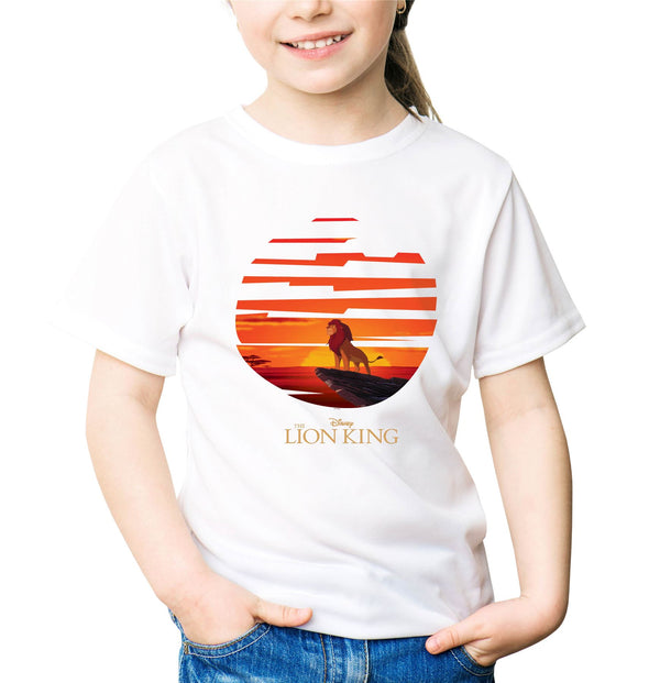 The Lion King Mufasa Sunset Children's Unisex White T-Shirt