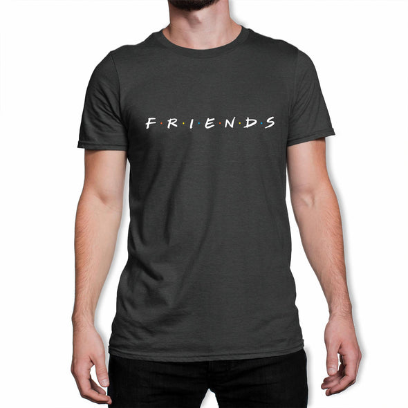 Friends Original Logo Men's Black T-Shirt