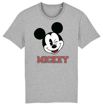 Mickey Mouse Wink Men's Grey T-Shirt