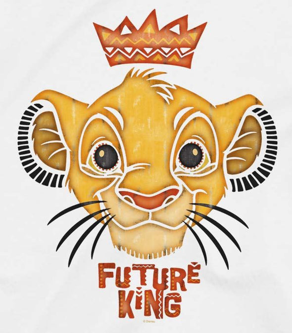The Lion King Future King Children's Unisex White T-Shirt
