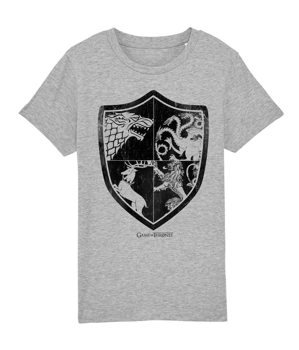 Game Of Thrones Shield Of Sigils Ladies Grey T-Shirt