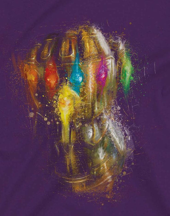 Avengers Endgame Infinity Gauntlet Men's Purple T-Shirt