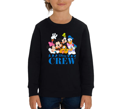 Disney Classic Crew Children's Unisex Black Sweatshirt