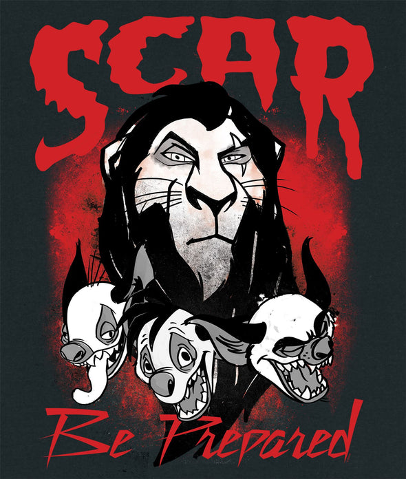 The Lion King Scar Be Prepared Men's Black T-Shirt