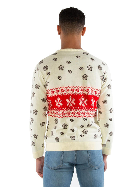 Friends Central Perk Cream Knitted Christmas Jumper