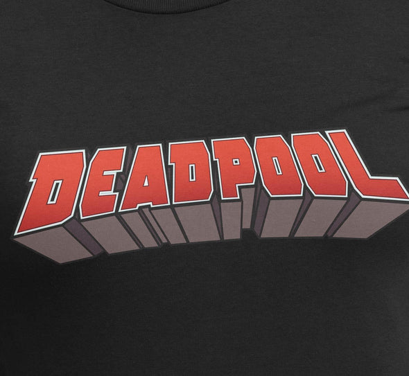 Deadpool Classic Logo Ladies Black T-Shirt
