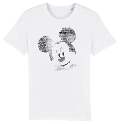 Mickey Mouse Sketch Ladies White T-Shirt