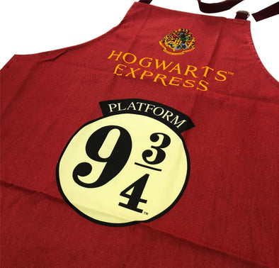Harry Potter Platform 9 3/4 Red Apron