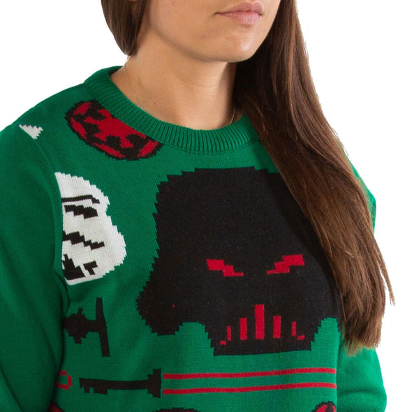London Co. Star Wars Darth Vader Green Unisex Christmas Knitted Jumper