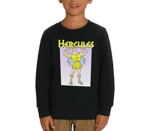 Disney's Hercules Muscles Children's Unisex Black Sweatshirt