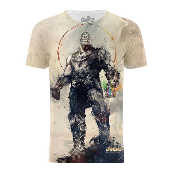 Avengers Infinity War Thanos Battle Stance White Ladies T-Shirt
