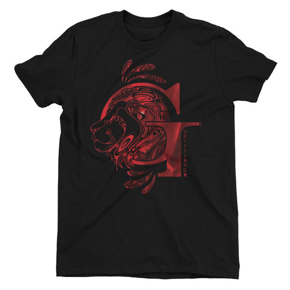 Harry Potter Gryffindor Lion Black Men's T-Shirt