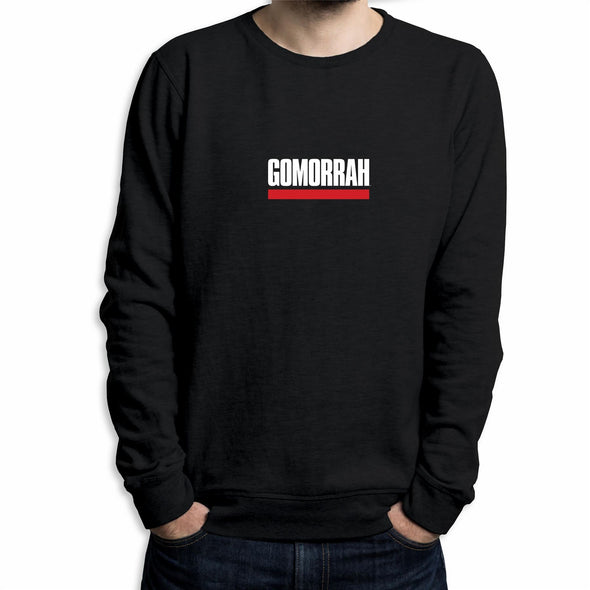 Gomorrah Classic Underlined Logo Men's Black Sweatshirt