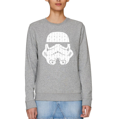 Star Wars Christmas Trooper Adults Grey Unisex Sweatshirt