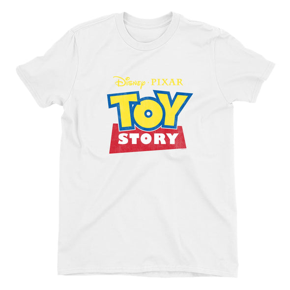 Toy Story Classic Logo Ladies White T-Shirt