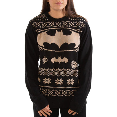 London co. DC Batman Black Unisex Christmas Knitted Jumper